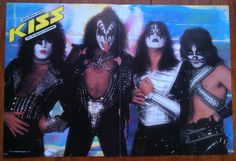 Kiss Creem Magazine Color Poster Two Sided 1976 1977 Gene Paul Peter Ace RARE | eBay