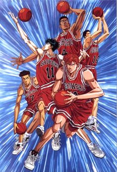 Anime about basketball. I dont even like basketball but i love this anime. And my country is nuts about basketball so bball + tagalized comedy = hit! Rukawa rukawa l o v e rukawa! Or so the cheerleaders chant Slam Dunk Manga, Bd Comics, Anime Comics, Manga Anime, Inoue Takehiko, T Shirt Designs, Kuroko, Animes Wallpapers, Slammed