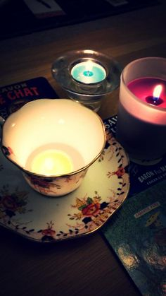 #tealights #cosy #candles #vintage #teacup #home #love