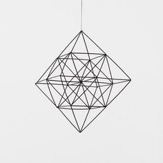 Himmeli Diamond / moderne suspendus Sculpture Mobile / par HRUSKAA