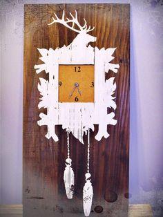 Reclaimed wood - clock