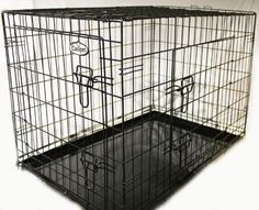Easipet Puppy Cage for Dog, 91 x 60 x 66 cm, Black  was £59.99 NOW £24.00