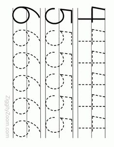 Number Tracing Worksheet 4 - 6 | Ziggity Zoom