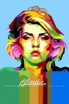 Blondie (Wedha's Pop Art Portrait) by Toni Agustian