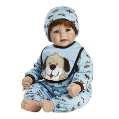 Baby Doll Reborn Boy Real Lifelike Vinyl Soft Realistic Toddler Cute Kids Toy