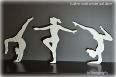 wooden wall decor, wall decor, gymnast, gymnastics, gymnasts, gymnasts set of 3 on Etsy, $55.00
