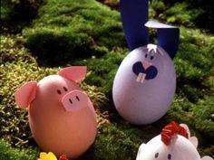Uova di Pasqua decorate con fantasia