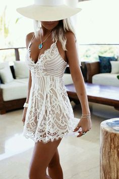 Lace summer spring dress