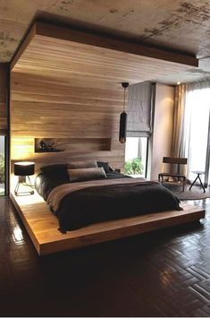 Unique bed. I like this look, but I KNOW I'd nail my shins constantly on the corners...