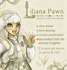 Liliana Pawn ~ The Princess of the White Kingdom is a torn and kind-hearted young lady, but a little bit cheeky. She is a passionate dancer. No matter if a elegant waltz or a mysterious eastern dance, she honors both of the cultures of her family. Her best friend is her older brother Luciano with whom she often causes a little bit of chaos 💛⭐️ #lilianalilypawn #art#oc#originalcharacter#topsyturvywonderland #design#whitekingdom#story#fairytale#everafterhigh#princeivy