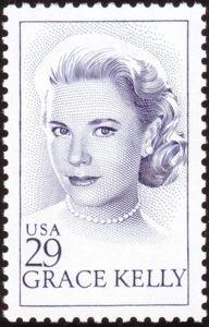 Unvergessen: Grace Kelly auf USA Briefmarke 1993, gestochen von Slania