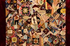 Extraordinary Victorian Crazy Quilt   From a unique collection of antique and modern quilts at https://www.1stdibs.com/furniture/folk-art/quilts/