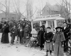 American Pop Corn Wagon 5 Cents 1890s 8x10 Reprint Of Old Photo