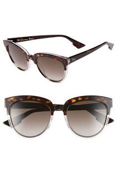 Dior  Dior Sight  54mm Bicolor Cat Eye Sunglasses Tortoise Cat, Tortoise  Shell, 7991a6831a65
