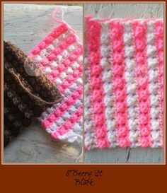Berry Block, free crochet pattern as part of the Mystery Lapghan crochet-a-long by Homemade Hats by Cheryl