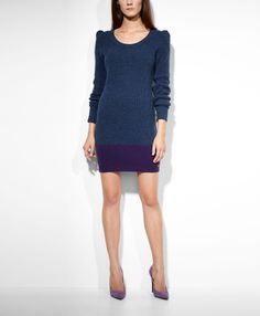 Levi's Colorblocked Sweater Dress - Dusk Blue Heather - Dresses & Skirts