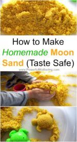 How to Make Homemade Moon Sand Recipe (Taste Safe)