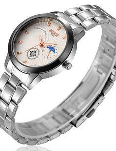SKLIT Damen-Uhren Edelstahl Band Mode Geschenk wasserdichte Quarzuhr - http://uhr.haus/sklit-watches/sklit-damen-uhren-edelstahl-band-mode-geschenk