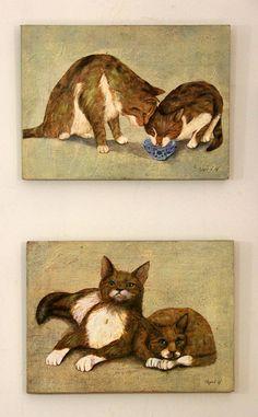 Quadros de gatos, Clayre & eef