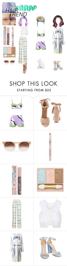 """hair trend"" by egchee ❤ liked on Polyvore featuring Aquazzura, Thierry Lasry, Paul & Joe, Mary Katrantzou, Jonathan Simkhai, Peter Pilotto and Reebok"
