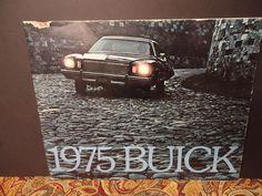 Vintage 1975 Buick Dealership brochure skyhawk skylark century riviera electra