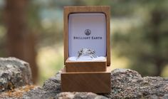 Rocky Mountain National Park Wedding Rings in Box