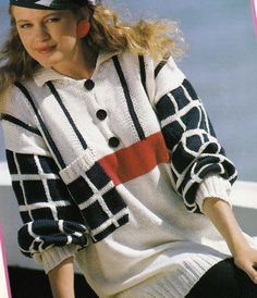 Vintage Knitting Pattern Original Instructions for Ladies Jumper/Sweater 3 Sizes