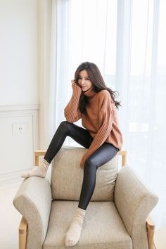 Shop for Long Weave Knit Top at Korean Fashion Store. Find the latest Korean fashion trends popular in South Korea here at our store. Korean Girl Fashion, Korean Fashion Trends, Ulzzang Fashion, Korean Street Fashion, Cute Fashion, Asian Fashion, Fashion Looks, Korean Outfits, Trendy Outfits