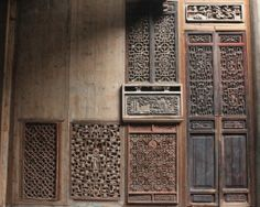 Ancient Chinese Wooden Screen  (Location : Chengkan , China)