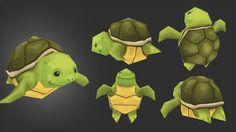 Bo Hsuan Chang — Low Poly Turtle