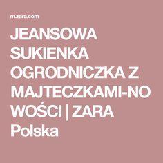 JEANSOWA SUKIENKA OGRODNICZKA Z MAJTECZKAMI-NOWOŚCI | ZARA Polska