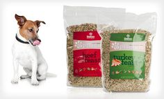 An outstanding dog food, freeze dried and dehydrated to retain 100% of it's nutritional value.  The ingredients are all natural and human grade.  Made fresh and delivered direct to my door. 40 lbs of food in an 8lb bag, stores and travels easily. Smells and tastes like turkey or beef stew. My dogs cannot wait for their every meal!