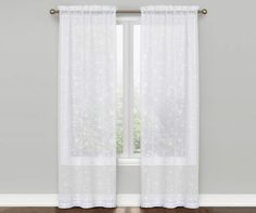 Cassandra White Floral Curtain Panel Pair 84 At Big Lots