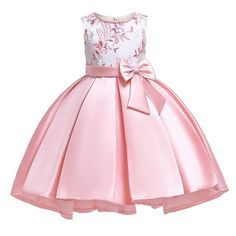 Summer children clothing girls dresses Size Years baby Dress Kids Bow Flower Clothing Princess Costume Girls Party Dress – costuras y artesanias - Children Clothes Wedding Girl, Wedding Dresses For Girls, Girls Party Dress, Girls Dresses, Gown Wedding, Baby Dresses, Peasant Dresses, Dress Girl, Cotton Dresses