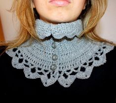 Crochet PATTERN - Victorian Neck Warmer
