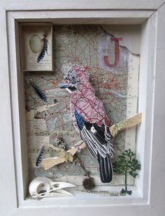 Jay is for Jay box   by julia mckenzie art