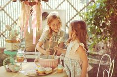 Little girls baking