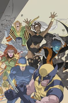 Here's a cover I colored for Marvel. The gorgeous pencils were done by Roger Cruz. Uncanny X-Men: First Class Hq Marvel, Marvel Comic Universe, Comics Universe, Marvel Heroes, X Men, Comic Books Art, Comic Art, Book Art, Comic Pics