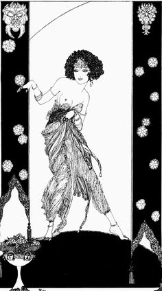 Here are some beautiful illustrations by Ronald Balfour, featured in a 1920 edition of the Rubáiyát. For more, here's a post by John Coulthart, an artist and designer with an online journal that I enjoy visiting: Ronald Balfour's Rubáiyát … Art Illustration Vintage, Ink Illustrations, Graphic Design Print, Graphic Art, Aubrey Beardsley, Creation Art, Art Japonais, Unusual Art, Art Graphique