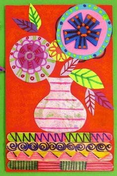 Cassie Stephens: In the Art Room: Folk Art Still Life Inspired by Kerri Ambrosino