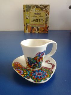 handpainted mug #painted #mug #cup #handpainted Hand Painted, Mugs, Paper, Tableware, Glass, Painting, Dinnerware, Drinkware, Tumblers
