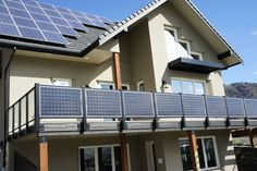 Solar panels act as privacy screen and make electricity.