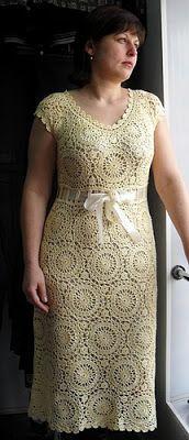 entretejiendo: vestido amarillo