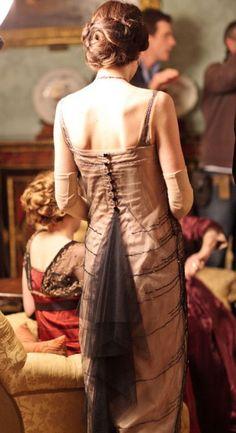 "Lady Mary Crawley beaded butterfly dress. Back. ""Downton Abbey"" season 2, episode 2."