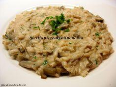 Risotto con carciofi e mascarpone Vegan Vegetarian, Vegetarian Recipes, Coconut Custard, Custard Filling, Italian Cooking, Ravioli, Gnocchi, Chowder, Food To Make