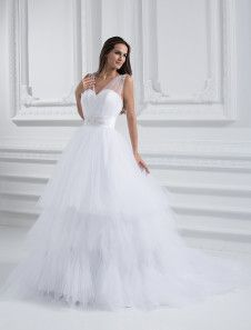 White A-Line Luxury Wedding Dress. Get unbelievable discounts up to 60% Off at Milanoo using Coupon & Promo Codes.