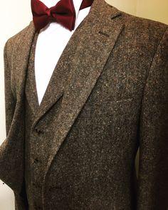 Brown Tweed Wedding Suit Hire