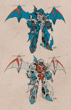 Thundercracker and Starscream - Steampunk concepts