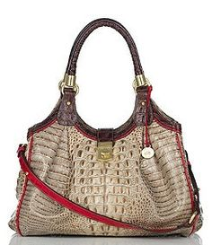 d9b3812b8f9c Brahmin Elisa Tri-Color Croc Embossed Handbag in Prosecco -