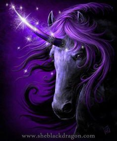 A purple, mystic unicorn. I think unicorns are real, but this is the most beauteous one I've laid eyes on. I think she totally deserves to be on this Mystic Tiger board of mine. She's really cool and really pretty and I hope everyone will pin her because I cannot keep her to myself. I need to share the magic. The magic of the beautiful purple unicorn. See you soon! Bye <3!